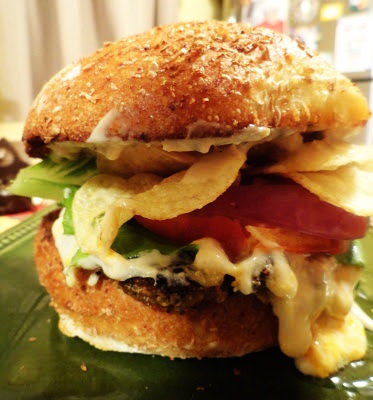 eggplant burger crunch bun top (3)