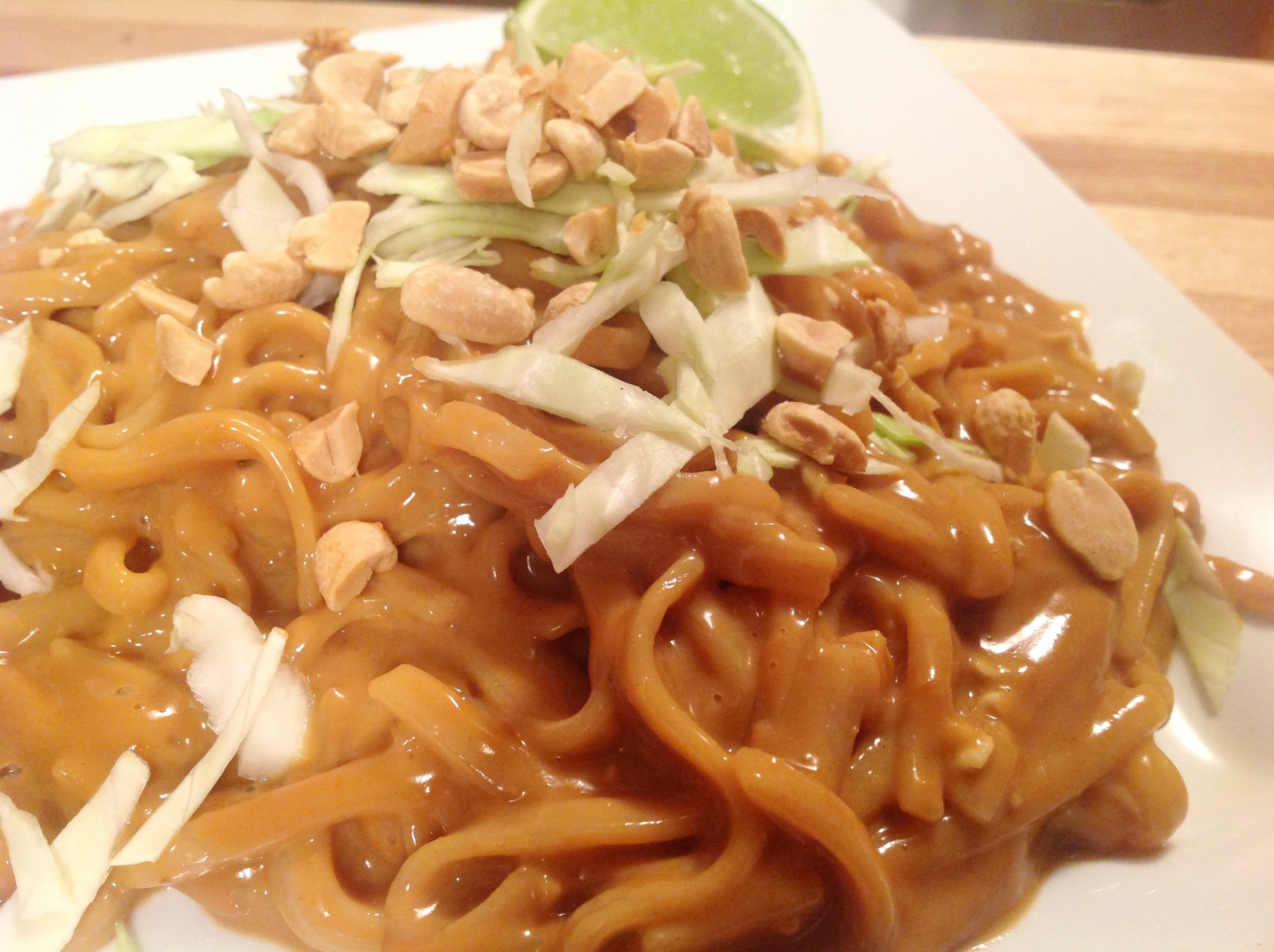VeganMoFo Day #2Cold Rice Noodles in Spicy Thai Peanut Sauce
