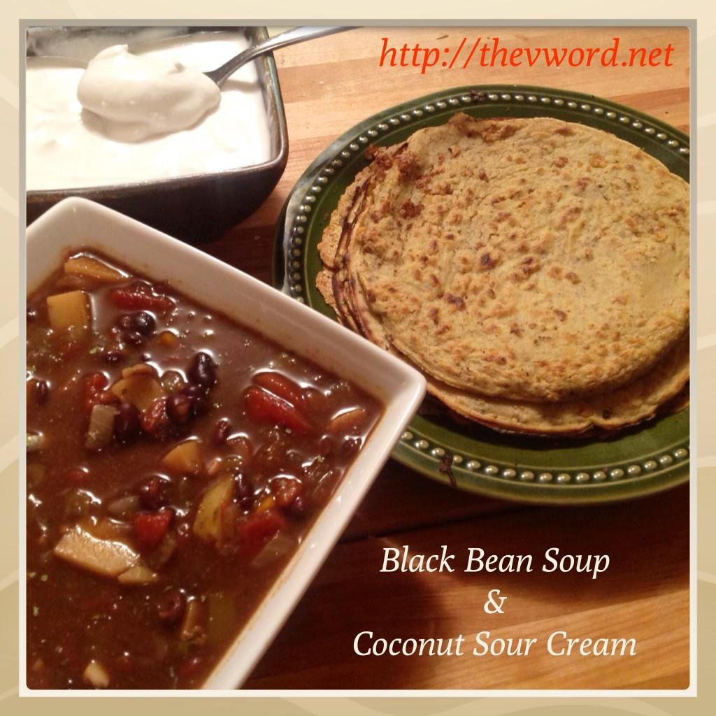 Sopa de frijol negro (2)