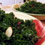 kale salad w cranberries and almonds - Copy