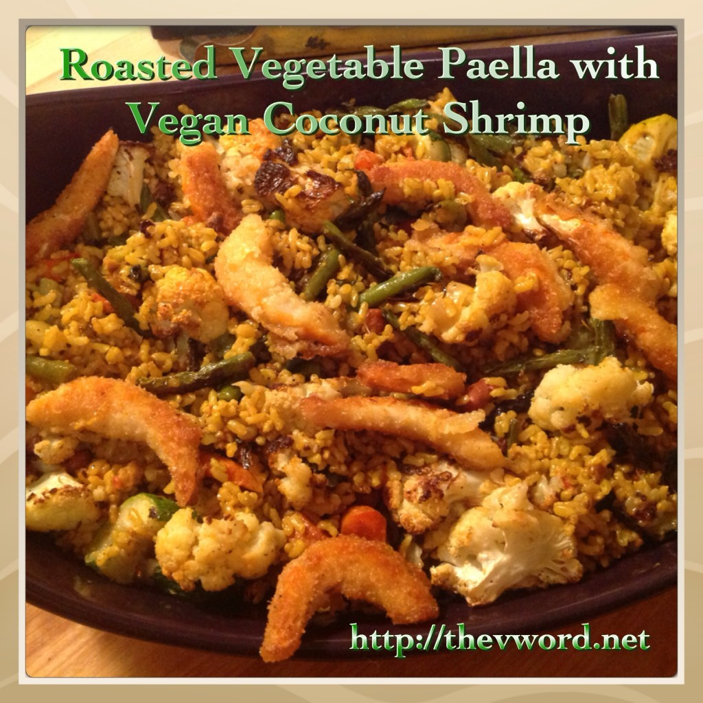 veg paella with v shrimp (3)