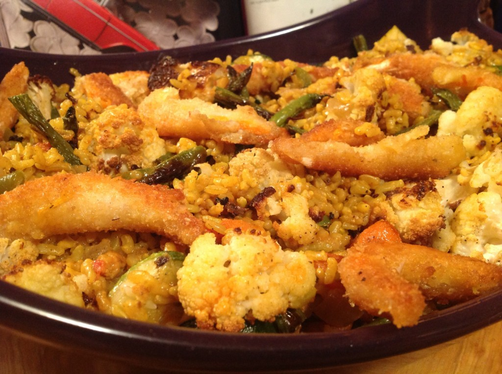 veg paella with v shrimp (7)