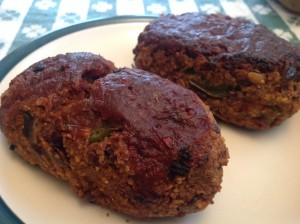 The Mini Meat Loaves held together beautifully, they were beefy ...