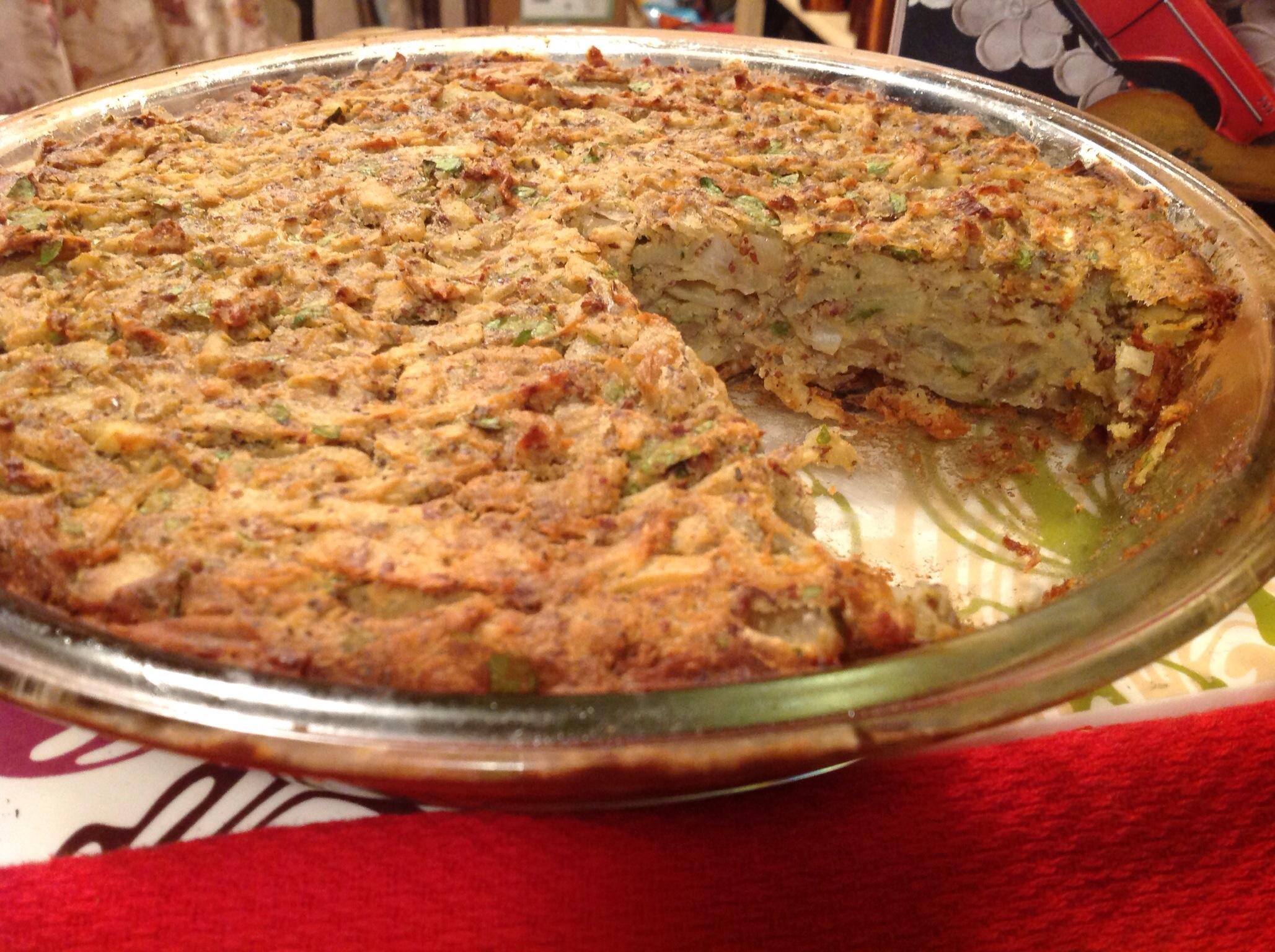 ... with sauteed shallots recipes dishmaps potato kugel with sauteed