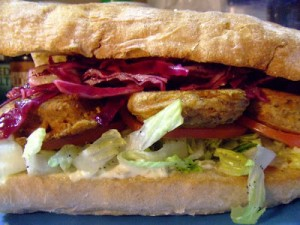 p Junge Sandwich