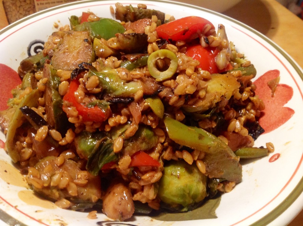 Wheatberries with veggies (12)