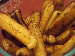 polenta fries close