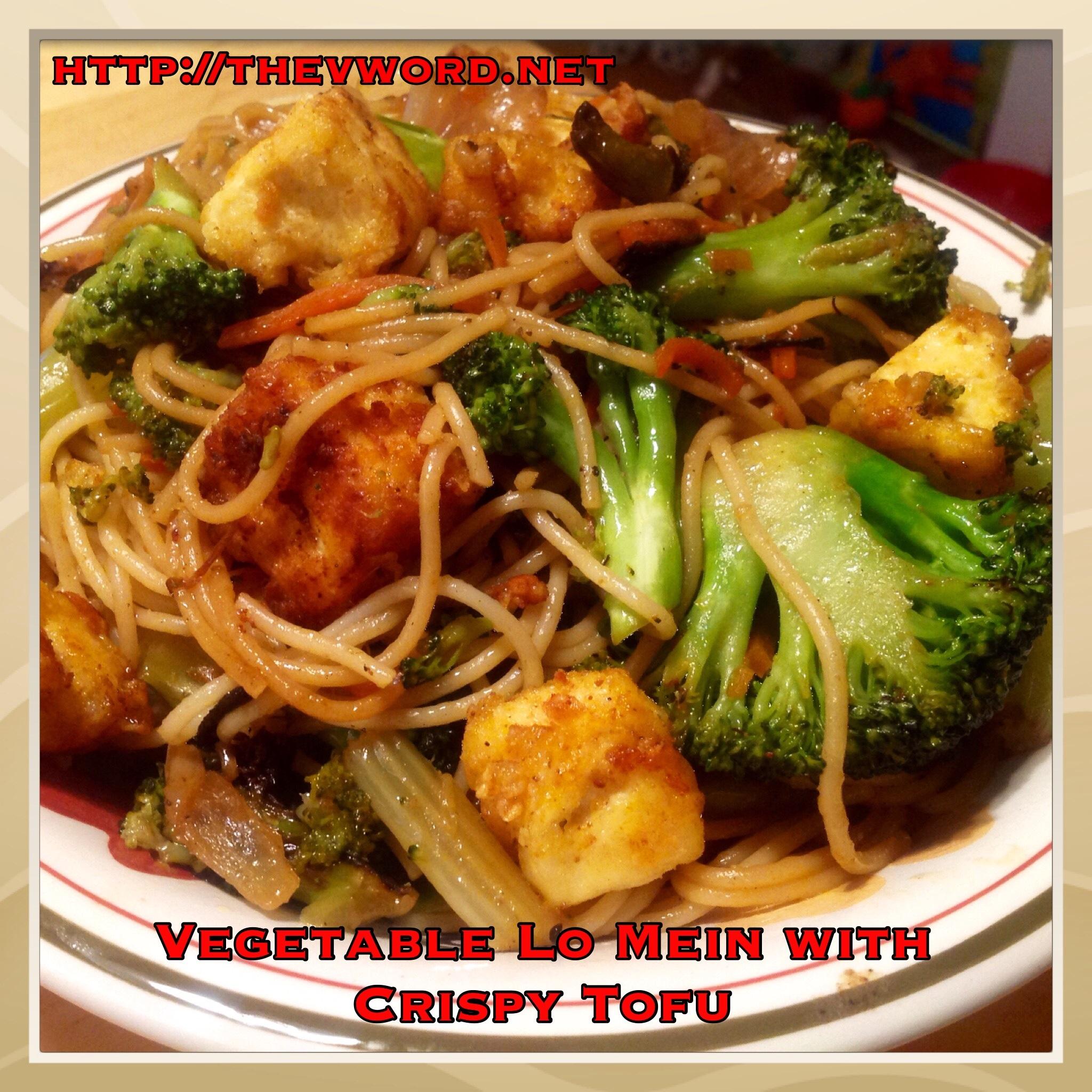 Vegetable lo mein with crispy tofu the secret to crispy tofu and vegetable lo mein with crispy tofu forumfinder Images