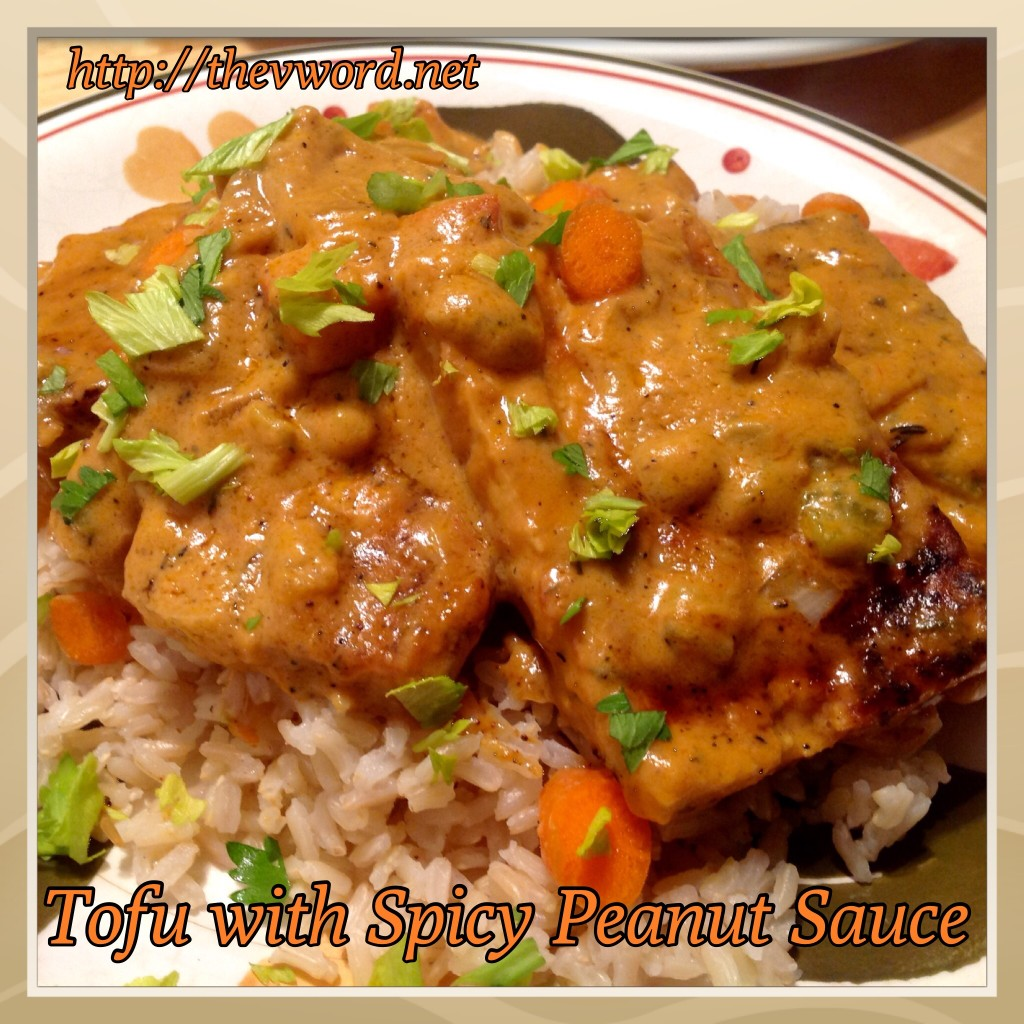 Tofu And Peppers With Spicy Peanut Sauce Recipe — Dishmaps