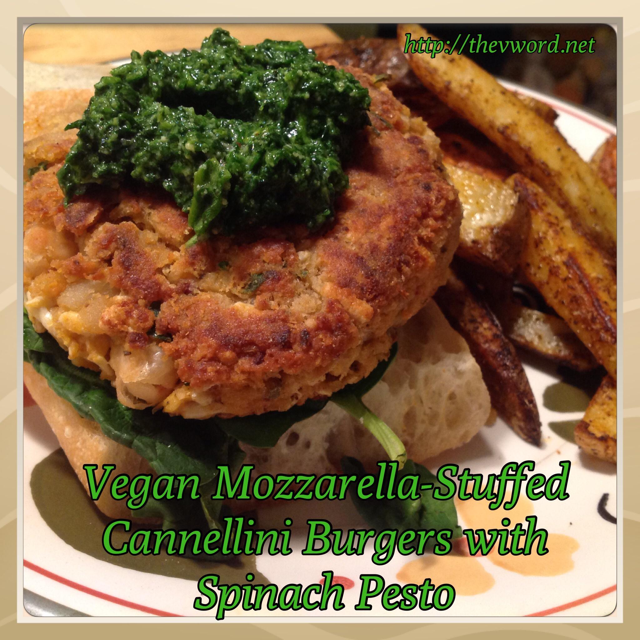Burgers With Mozzarella And Spinach-Arugula Pesto Recipes — Dishmaps