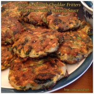 Potato Spinach Fritters with Daiya (22)