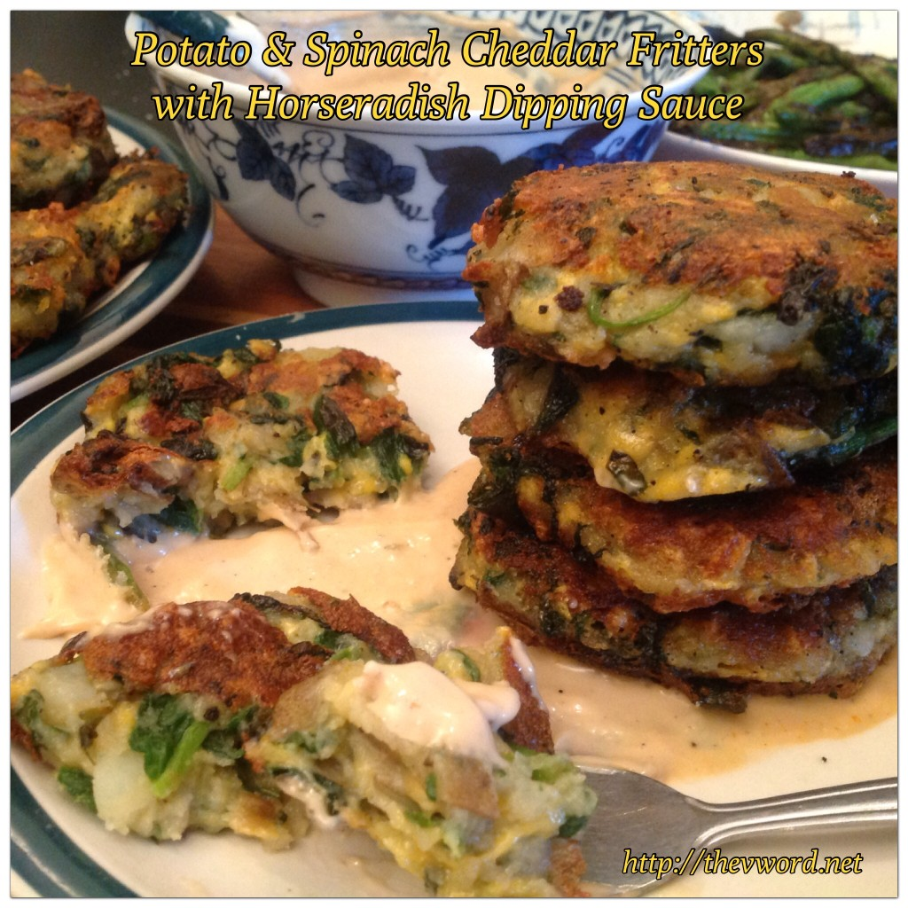 Potato Spinach Fritters with Daiya (25)