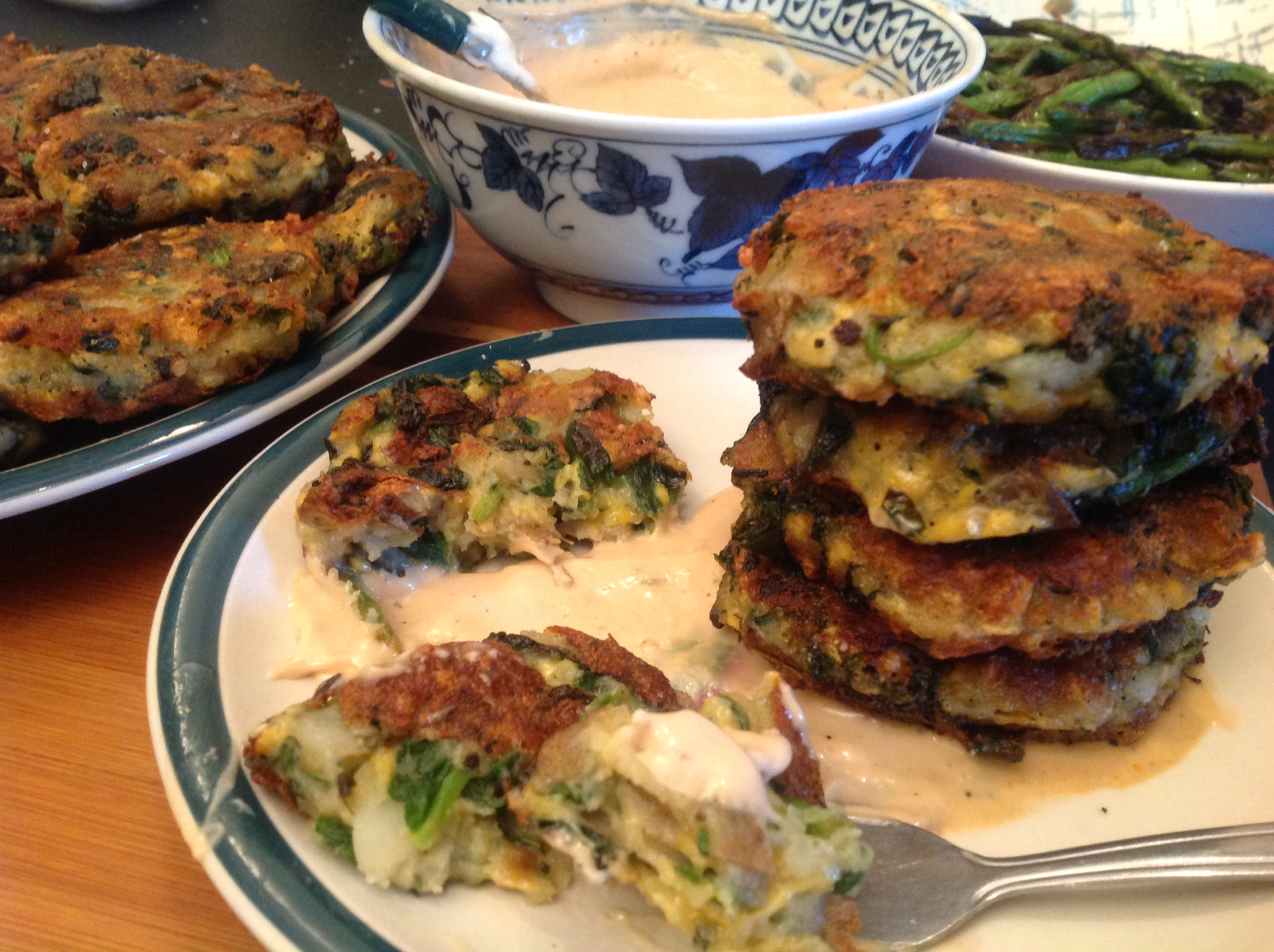 Potato Spinach Fritters with Daiya (34)