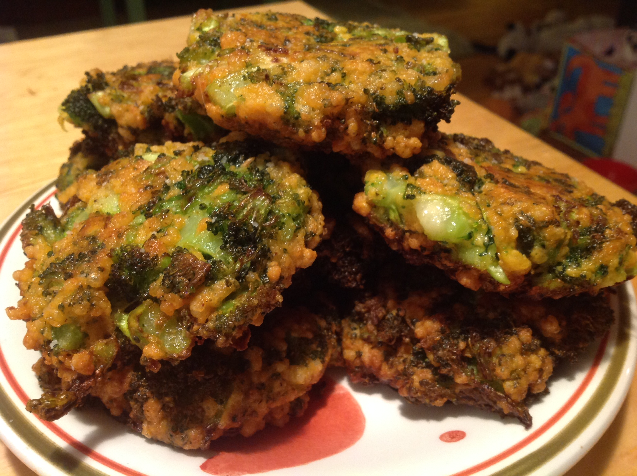 Broccoli And Vegan Cheddar Fritters The V Word