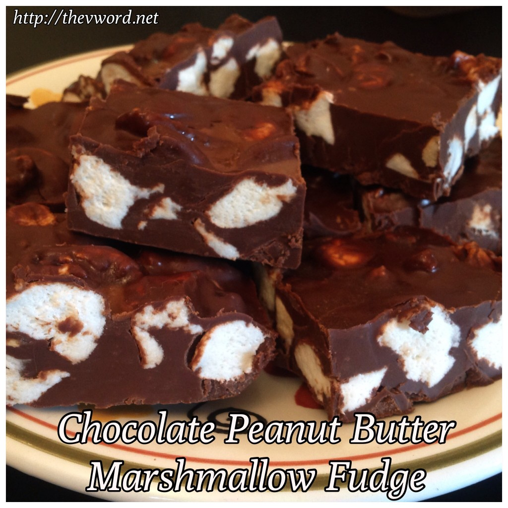 Vegan Chocolate Peanut Butter Marshmallow Fudge