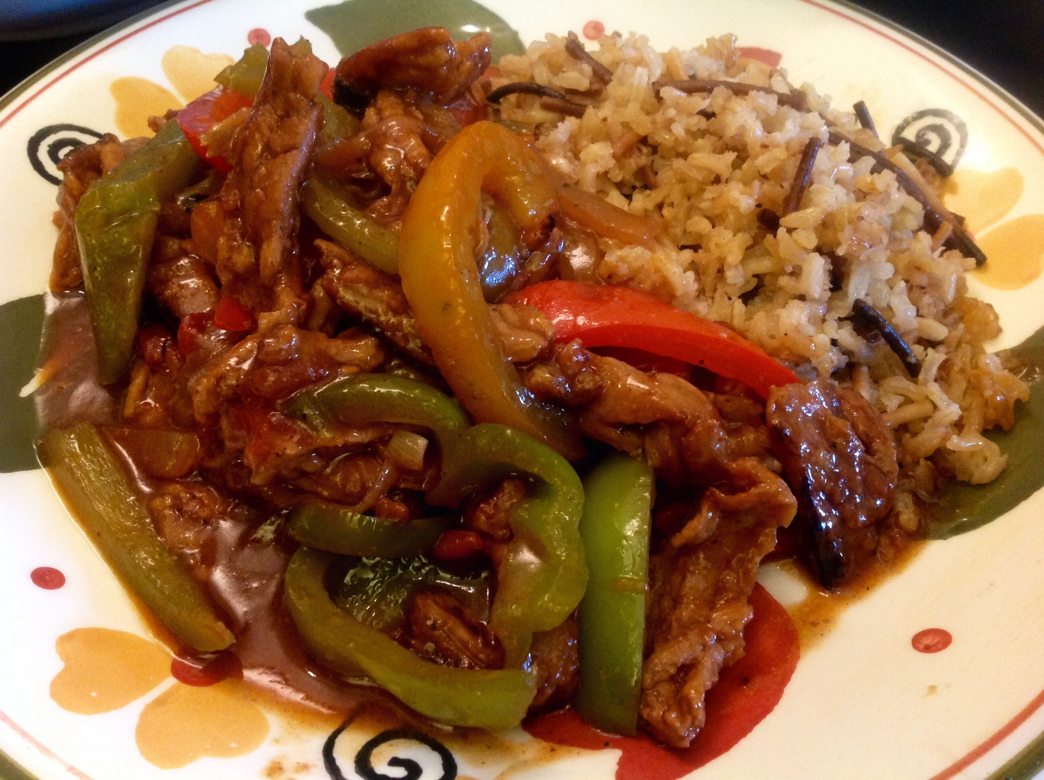 "Vegan Pepper Steak with Homemade Rice-a-Roni | The ""V"" Word"