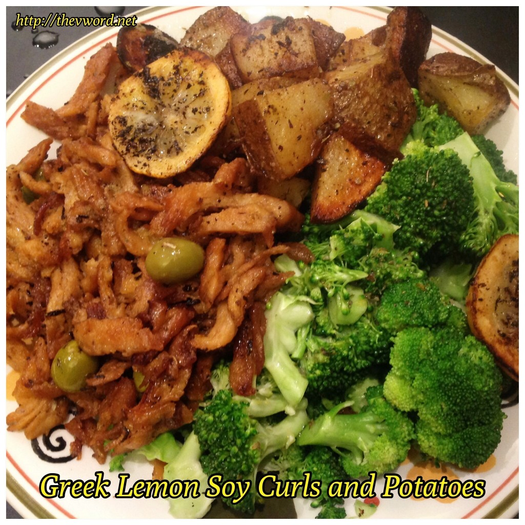 Greek Soy Curls and Potatoes (1)