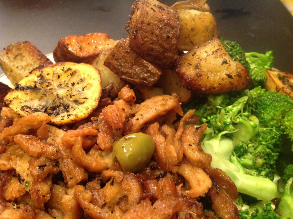 Greek Soy Curls and Potatoes (9)