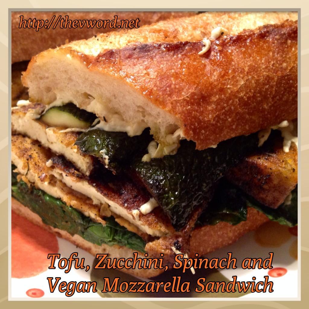Tofu Zucchini Spinach Mozzarella Sandwich (1)