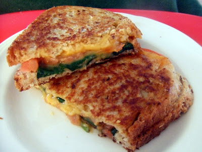 grilled cheese and spinach